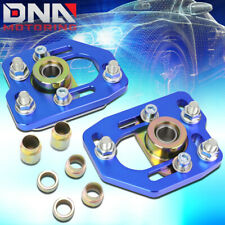 FOR 1990-1993 FORD MUSTANG FRONT ALUMINUM ADJUSTABLE CAMBER/CASTER PLATES BLUE
