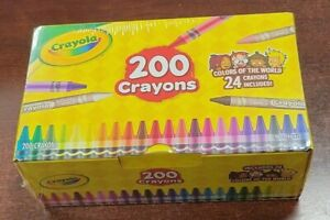 BRAND NEW Crayola 200 Crayons includes 24 Colors of the World Crayons Nontoxic