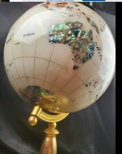***RARE Large globe of precious stones on gold stand***