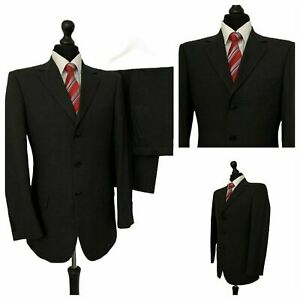 Mens Marks & Spencer Suit 40R 34W 27L Charcoal 2 Piece Grey Formal P198