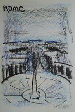 Georges LAPORTE (1926-2000) Technique mixte/papier Rome P1803