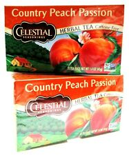 Celestial Country Peach Passion Herbal Tea 20 bags each ~ Lot of 2