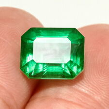 3.2Ct Colombian Emerald Octagon Collection Color Enhanced QMDa438