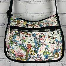Alice In Wonderland LeSportsac Purse Small Mad Hatter Cheshire Cat VHTF RARE