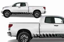 Vinyl Decal Lower Sport Rocker Wrap Kit for Toyota Tundra TRD 07-13 Matte Black
