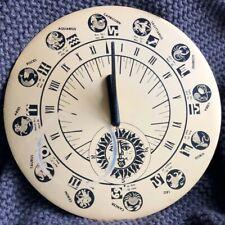Vintage Sun Dial With Astrological signs Astrology Garden Decor Clock