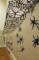 3M HANGING SPIDERS SPIDER CEILING HANG WALL WEB BATS HALLOWEEN DECORATION COBWEB