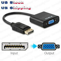DisplayPort Male DP to VGA Adapter Cable Comverter laptop Game Monitor FHD 1080P
