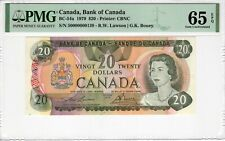 Canada 1979 20 Dollars 54a PMG Certified Banknote UNC 65 EPQ Gem Low Serial #