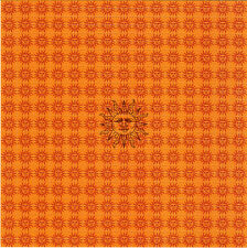 ORANGE SUNSHINE -historic BLOTTER ART Perforated Sheet acid free paper art