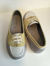 LADIES CLARKS ACTIVE AIR SHOES SIZE 6.5 WHITE , GREY , MUSTARD.           D166