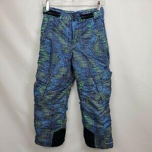Columbia Kids Ski Snowboard Snow Pants Boys Size 10 12 Blue Insulated Waterproof