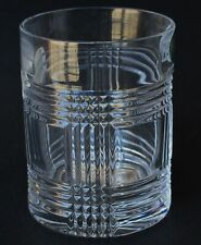 """Ralph Lauren Glen Plaid Crystal Glass Double Old Fashioned Signed Stamped 4 1/8"""""""