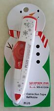 PLUS Whiper MR Correction Tapes (Christmas Editions) - Snowman