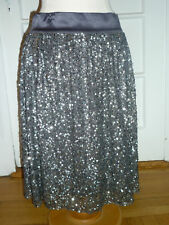 616eebf21 NWT: LAFAYETTE 148 Silver Sequin Party Skirt, 8