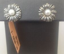 LAGOS PEARL 5mm FLOWER .925 STERLING SILVER STUD PIERCED EARRINGS  $325 NEW