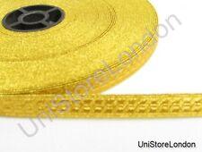 Braid Gold mylar BNS 10mm Rank marking Lace Trim R900