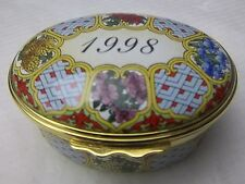 Halcyon Days Enamels A Year To Remember 1998 Oval Box New