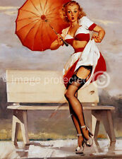 Ive Been Spotted Gil Elvgren Vintage Pinup Girl 11x17 Poster