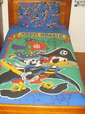 Ahoy! Donald Duck Pirate Quilt Cover Set - Single Bed