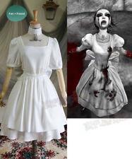 Alice: Madness Returns (juego) Cosplay Vestido de Disfraz de Mucama histeria & Delantal Set