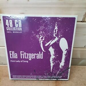 Ella Fitzgerald - First Lady of Song 48 CD Box set and Booklet Jazz Pop