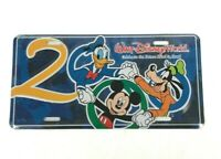 Sealed 2000 Walt Disney World License Plate Mickey Mouse Donald Duck Goofy New