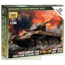 Zvezda #6159Soviet Medium Tank T-34/76 (Mod. 1943)     1:100 New!