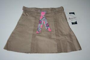 US Polo Assn Girls School Uniform Skirt Adj Waist Pleated Scooter Size 16 Khaki