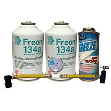 R-134a Quick Charge Kit R-134a Refrigerant, Oil Charge & Can Tap with Gauge