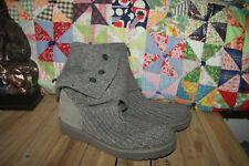 UGGS Classic Cardy 5819 Foldover Knit Gray Boots Women SIZE 8 Worn Once