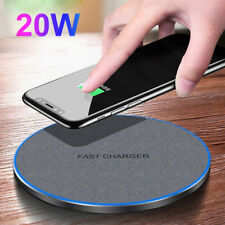 20W Fast Wireless Charger Pad Mat Charging For Qi Apple iPhone 12 Xr Samsung S20