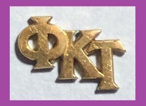 Vintage Lapel Pin Phi Kappa Tau Greek Letter Fraternity