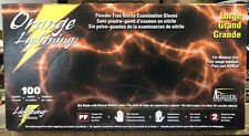 Atlantic Safety Orange Lightning Large Nitrile Powder Free Gloves 1box of 100