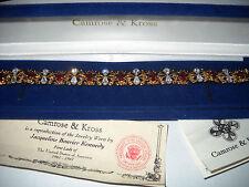 RARE Camrose & Kross Jacqueline Jackie Kennedy Ruby Garland Bracelet