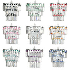 Modern 3 Tier Acrylic Crystal Ceiling Pendant Light Lamp Shade Chandelier Shades