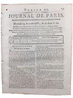 Chartres en 1788 Dourdan Mulot Agriculture Journal de Paris Théâtre