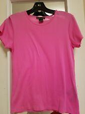 Ralph Lauren Black Label Womens 100% Cotton Tee LG Pink T-Shirt Top EUC