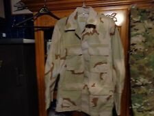 RAID MODIFIED TAN Shirt BDU MEDIUM LONG HOOK  DESERT TAN SUMMER WEIGHT TRI COLR