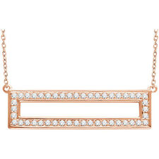 Roxx Fine Jewelry™ Diamond Rectangle Necklace .38 Ct 14K Rose Gold