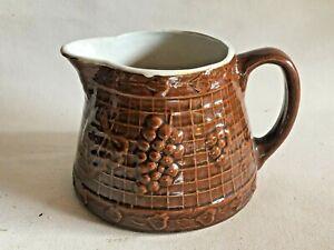 Vintage Mccoy Pottery Brown Pitcher