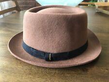G-Star Raw Noble Felt Wool Felt Fedora Hat, Brown, size M