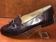 Salvatore Ferragamo Mens Wingtip Shoes Tassel Burgundy Sz 11.5 Originally $1000