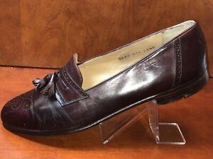 Salvatore Ferragamo Mens Wingtip Shoes Tassel Burgundy Sz 11.5 Originally $1000