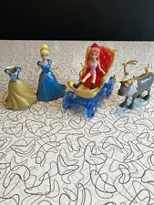Disney, Lot Of Magic Clip Princess Dolls And Coach Used Cinderella Anna Sven