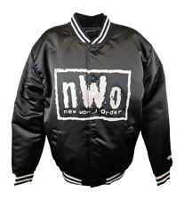 New World Order nWo White Logo Fanimation WWE Black Chalkline Jacket