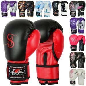 4oz 6oz 8oz Kids Boxing Gloves Junior Mitts PunchBag Children Gel Pad Glove