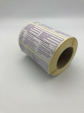 Food Allergy Labels Allergen Warning Day Dot / Catering Stickers 500 Per Roll