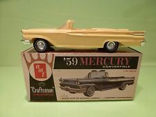 VINTAGE AMT CRAFTSMAN 4012 MERCURY CONVERTIBLE 1959 - YELLOW 1:25 - GOOD IN BOX