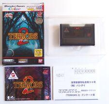 TERRORS 2 Bandai Wonderswan Color Reg Card Jap Japan